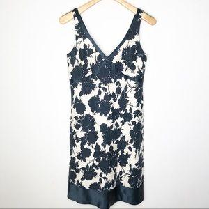 J Crew Linen Summer dress with silk Trim